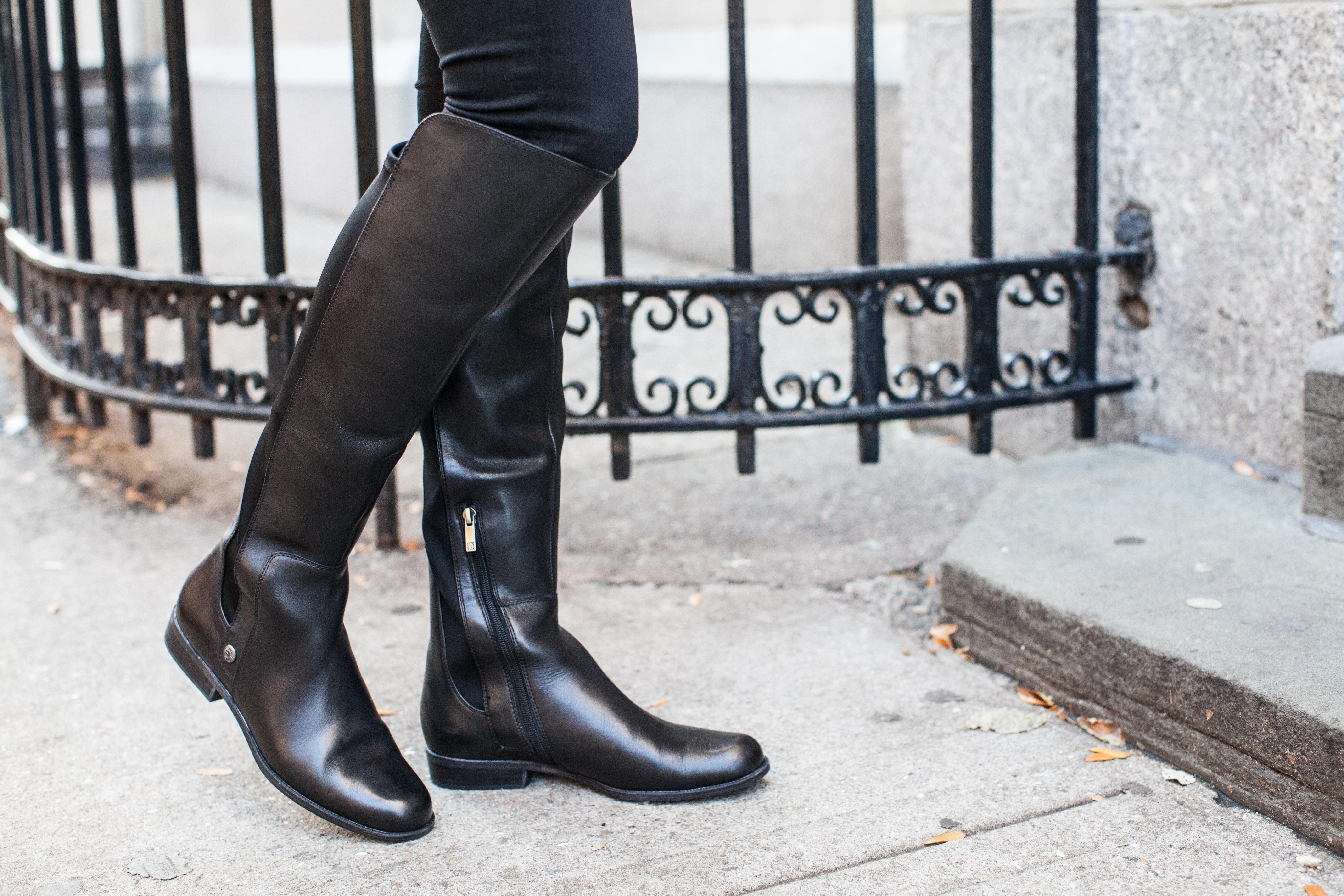 anne klein boots — bows \u0026 sequins