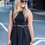 Leather-Trim LBD