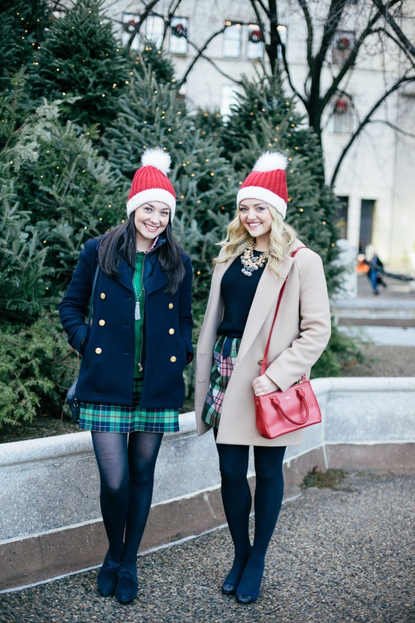cute holiday outfits with plaid