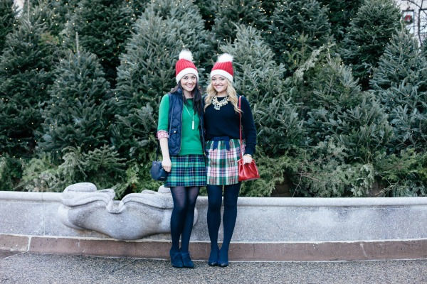 preppy christmas outfits plaid