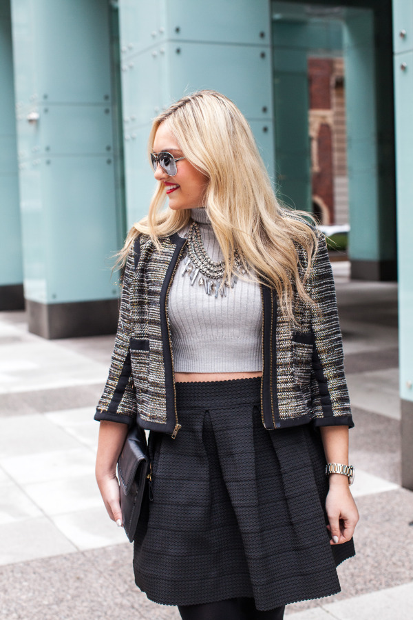 crop top blogger outfit
