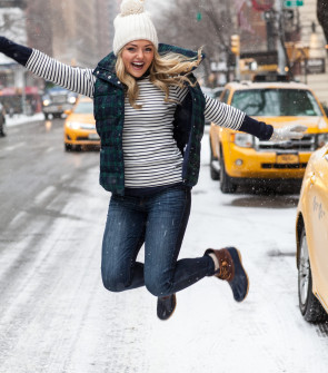 jumping in the snow picture nyc