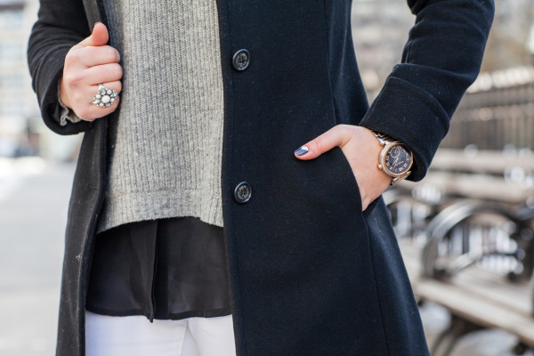 black white and grey neutrals winter outfit
