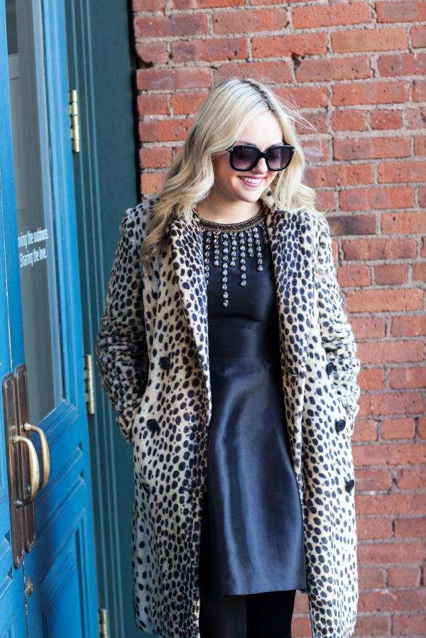 by malene birger leopard coat, embellished cynthia rowley dress