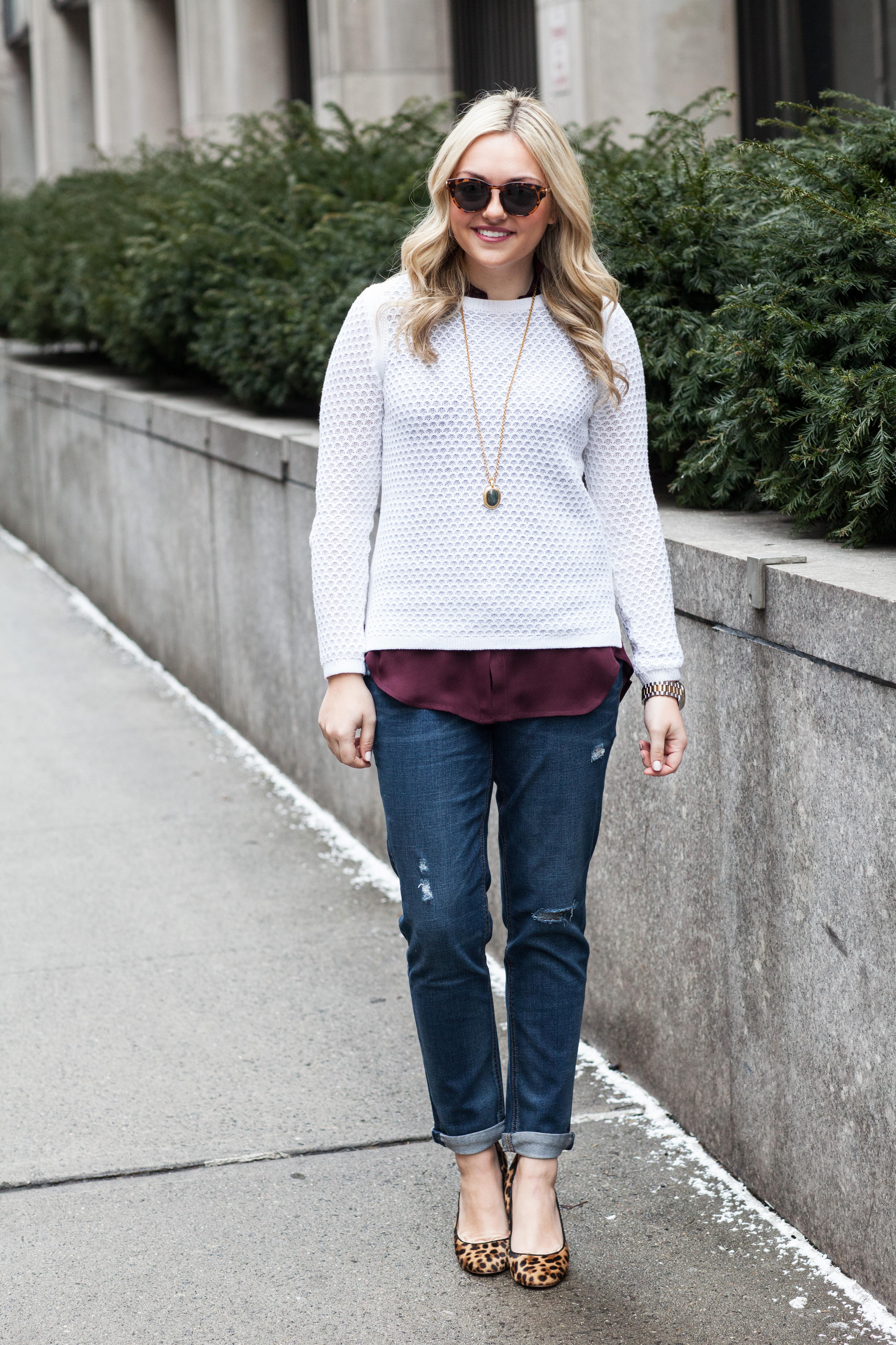 Boyfriend Jeans: Work & Weekend — bows & sequins