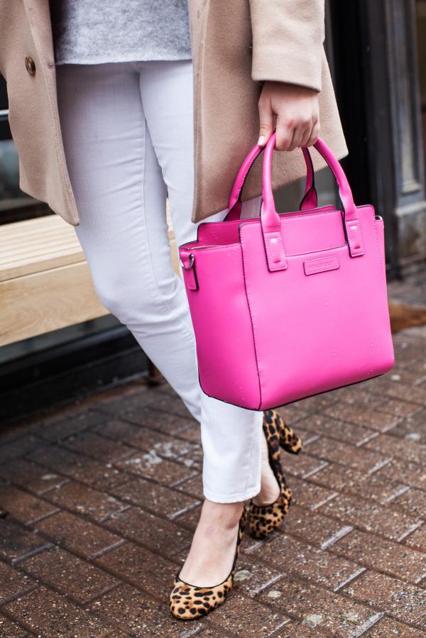 vera bradley pink satchel faux leather