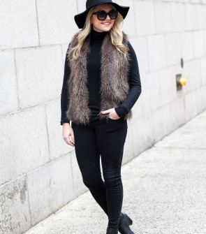 all black outfit new york city