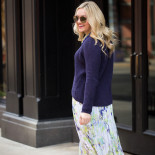 Chunky Knits + Floral Skirts