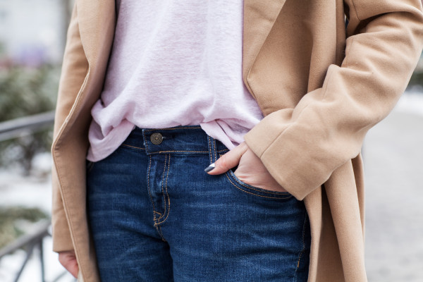 blush pink and camel