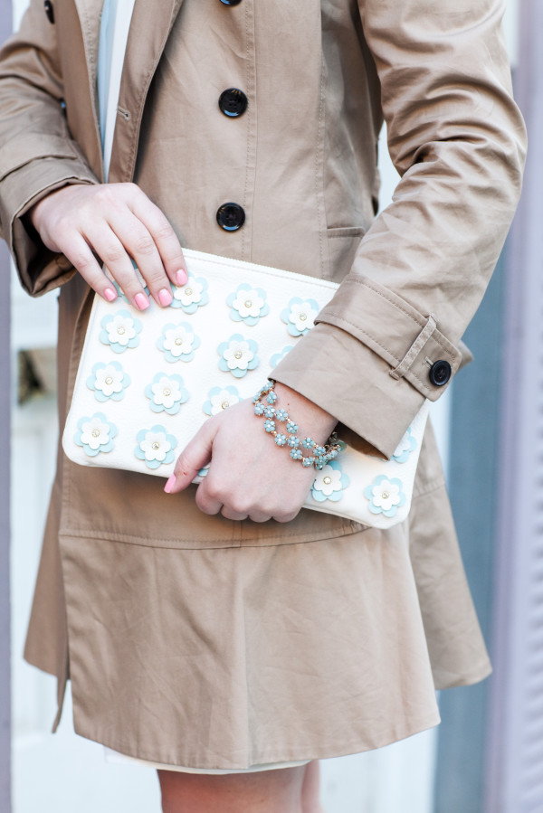 charming charlie flower clutch