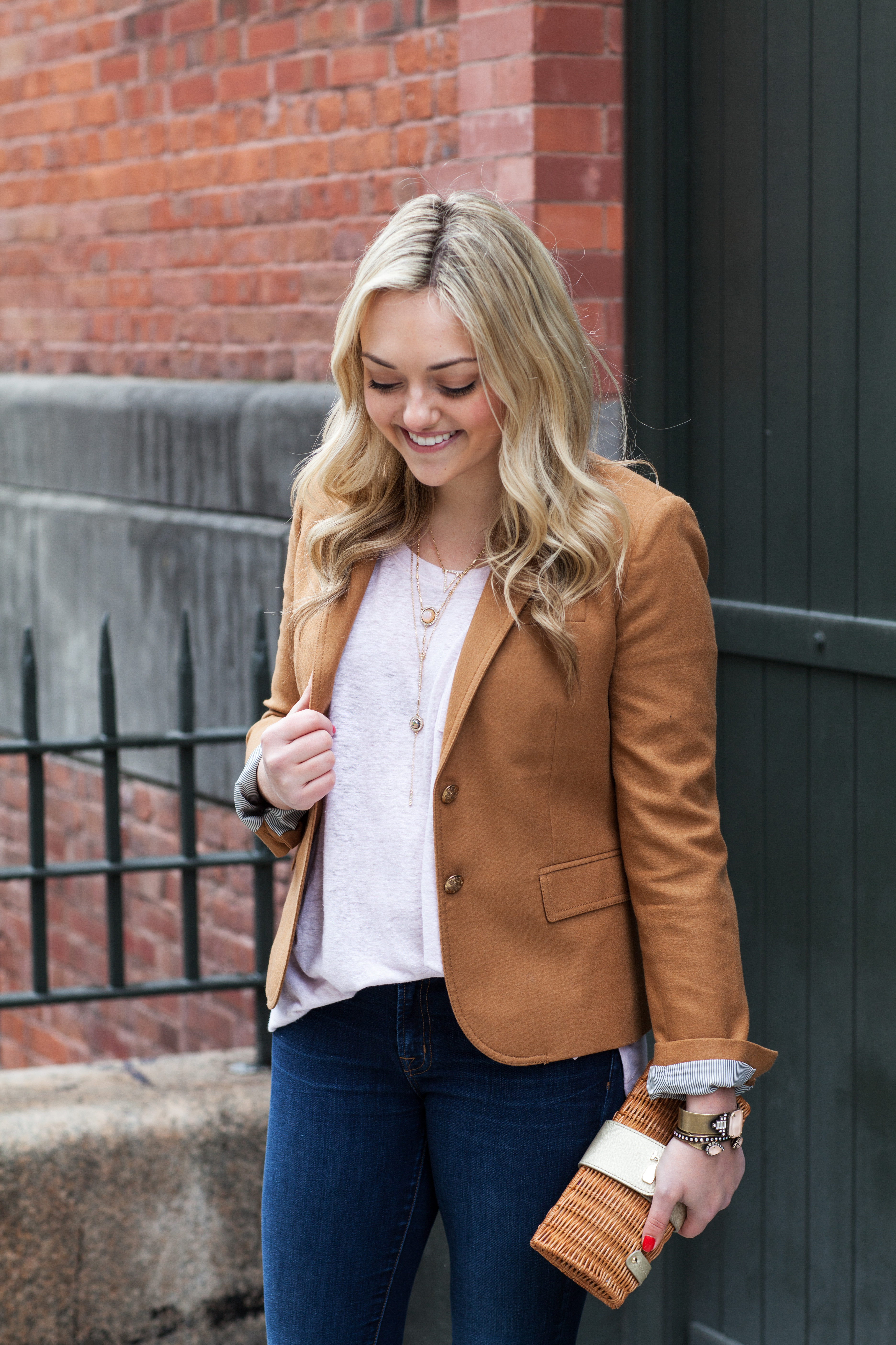 Color Coordinated: Camel + Cognac — bows & sequins