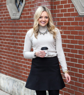 j.crew turtleneck and skirt