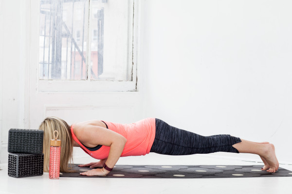 low push up yoga pose