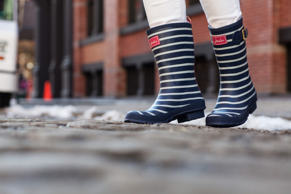 stripe wellies rainboots joules