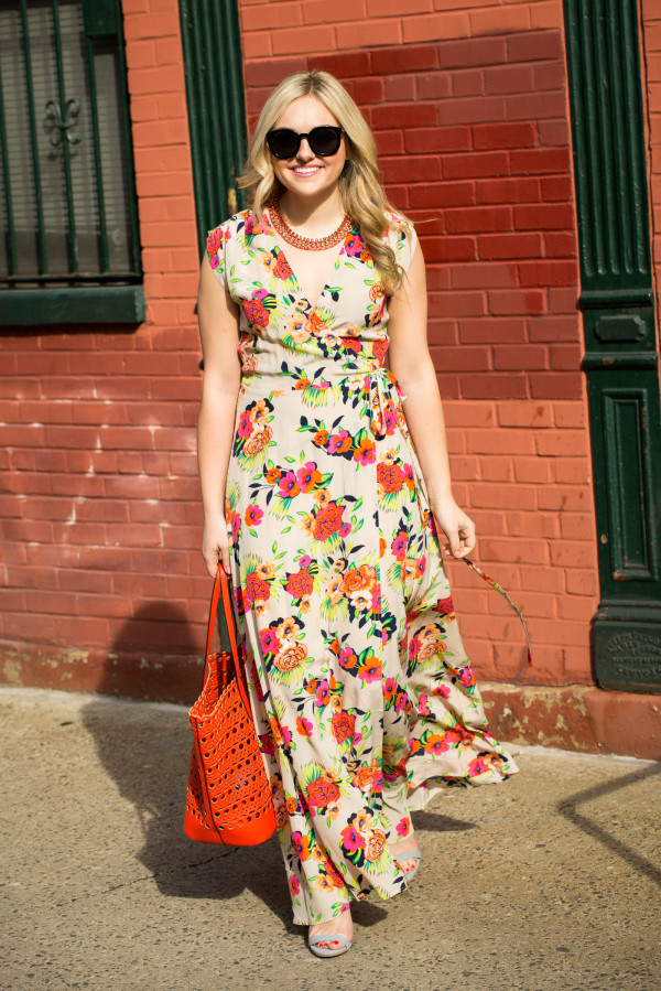 yumi kim floral printed maxi dress