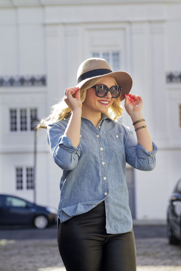 J.Crew Chambray Shirt Outfit