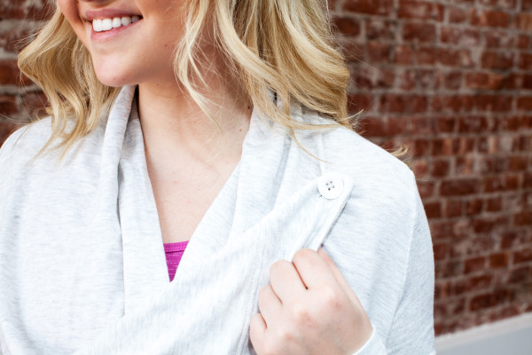 alo yoga peak wrap cardigan