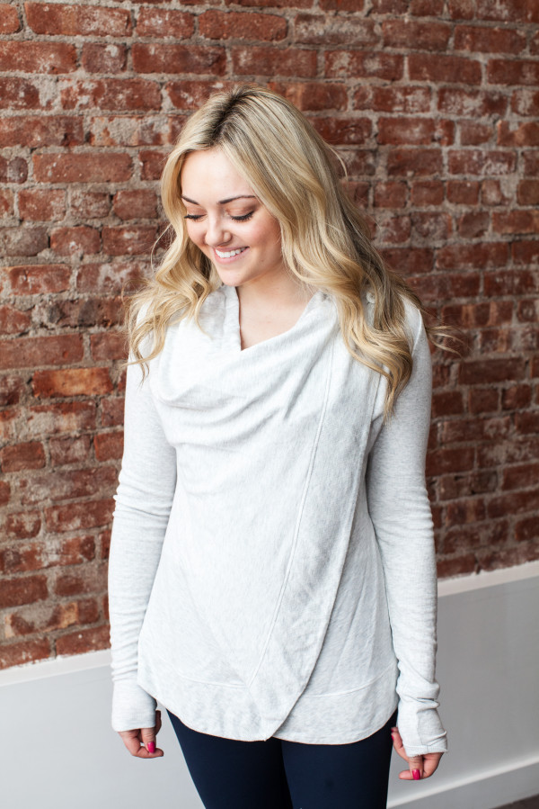 alo yoga wrap cardigan