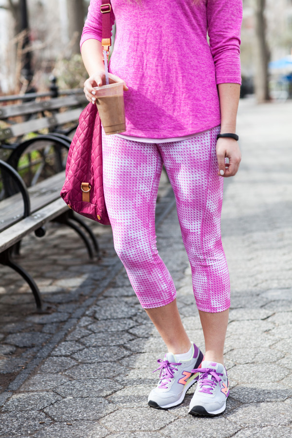 cute spring workout clothes pink colorful