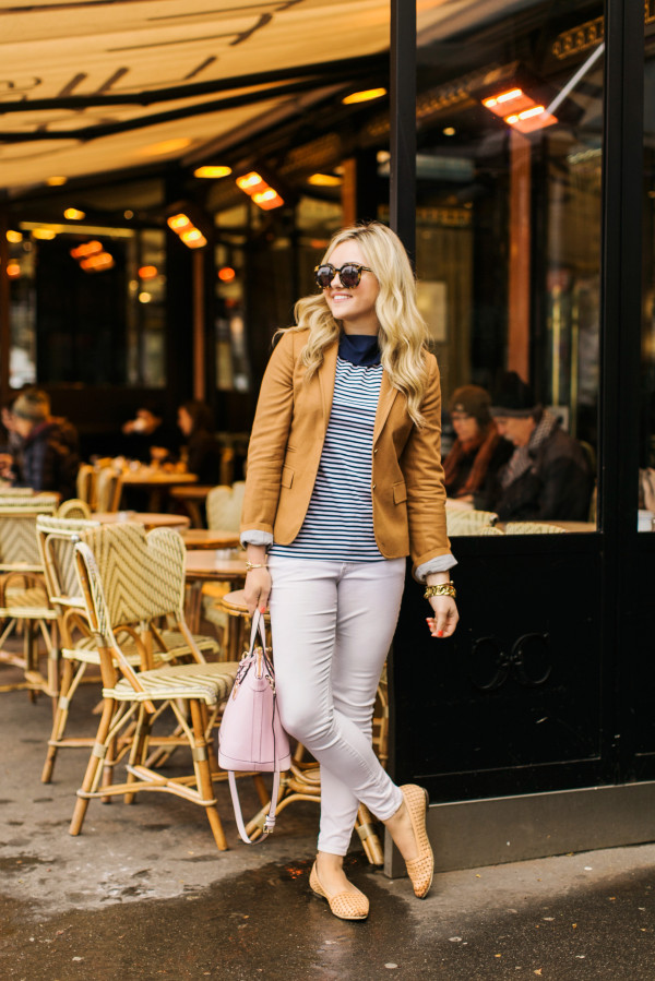 parisian inspired outfit, what to wear to a cafe in paris