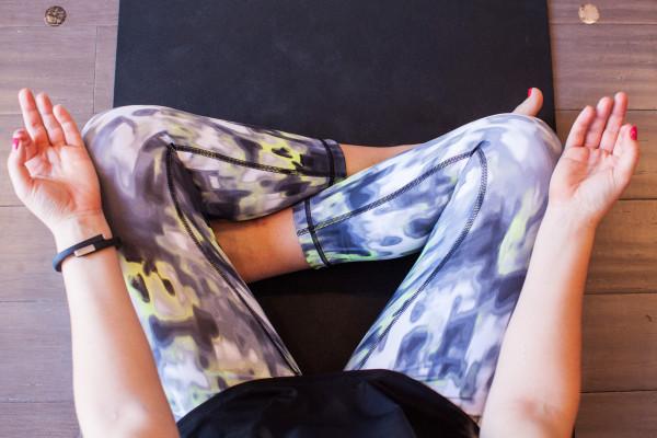 zella blurred printed leggings