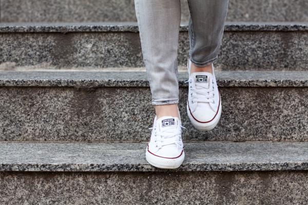 converse slip on sneakers shoreline white