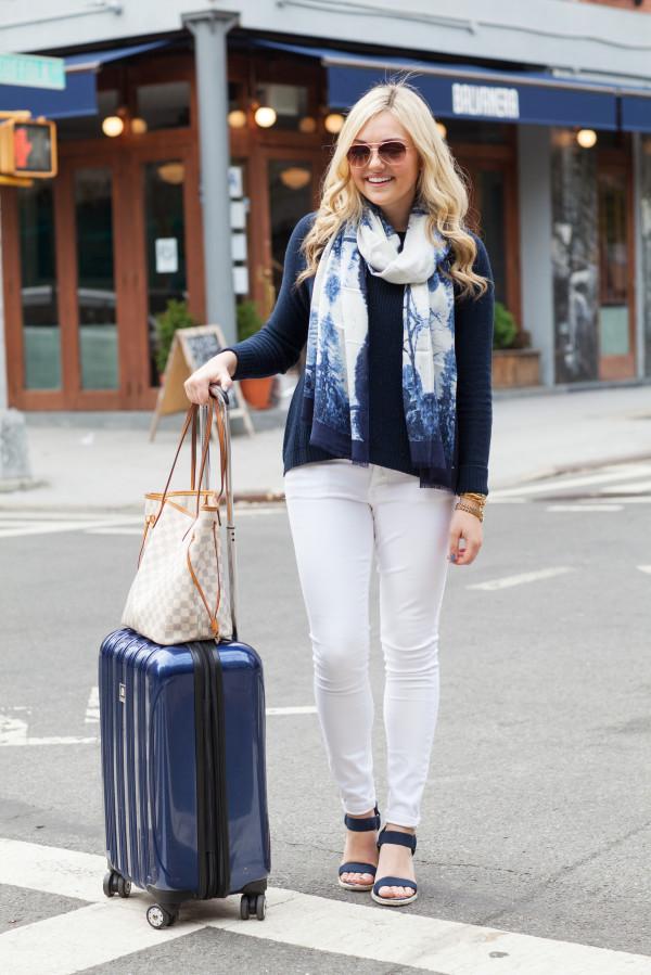 delsey helium suitcase navy blue