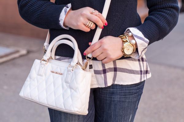 vera bradley white leather crossbody mini satchel bag