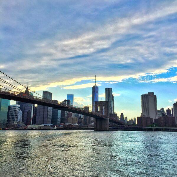 Brooklyn Bridge Freedom Tower Skyline NYC