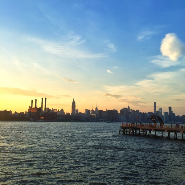 Sunset from Brooklyn East River Manhattan Skyline NYC