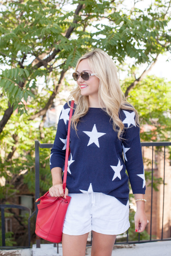 cute july 4th outfit star sweater