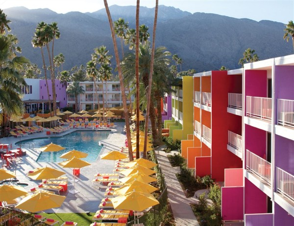 saguaro hotel palm springs colorful