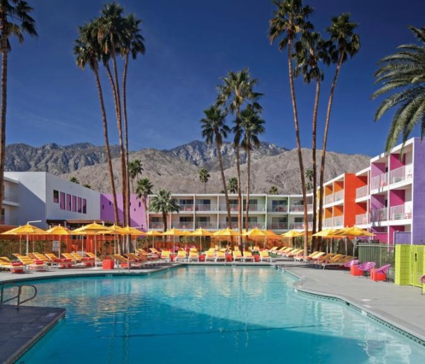 the saguaro palm springs colorful hotel