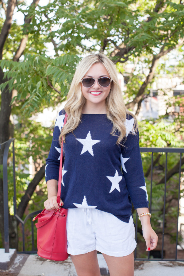 what to wear on july 4th star sweater red white blue