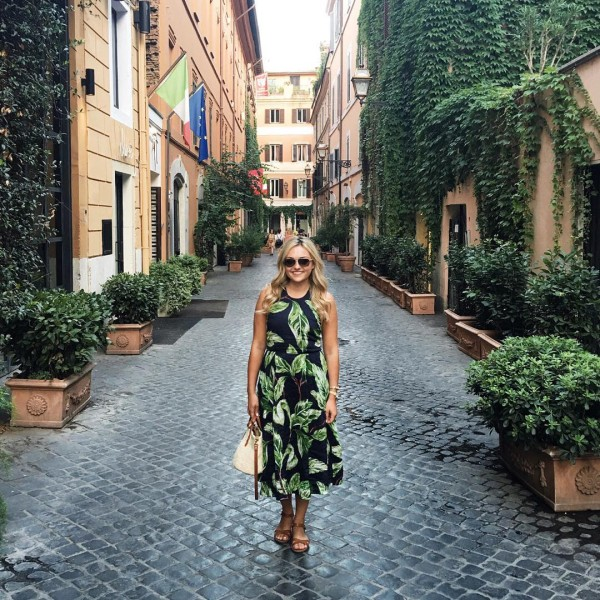 Blending right in on the walk to dinner in Romehellip