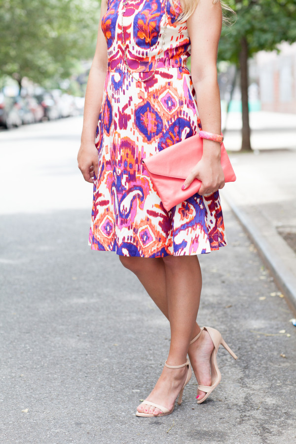donna morgan ikat dresss