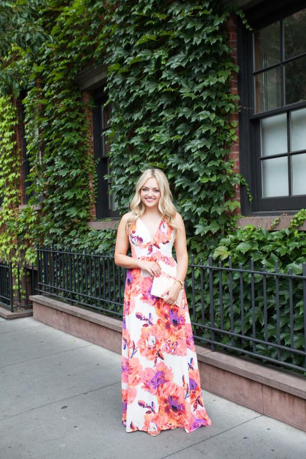 floral print maxi dress | west village, nyc
