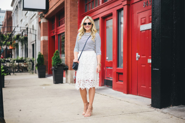 lace midi skirt outfit