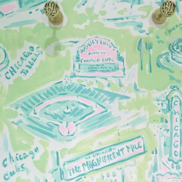 lilly pulitzer chicago watercolor