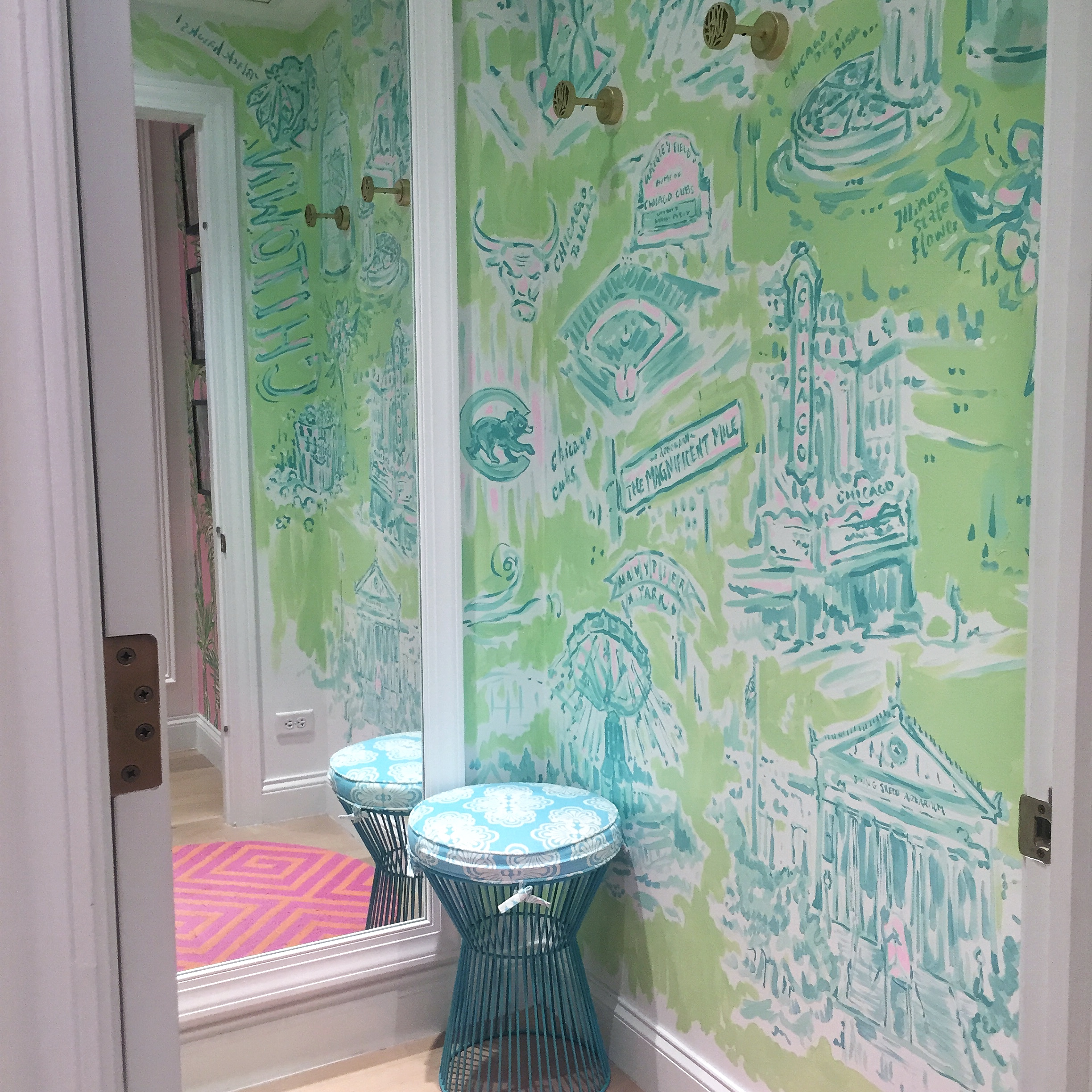 Lilly Pulitzer Oakbrook Chicago Dressing Room