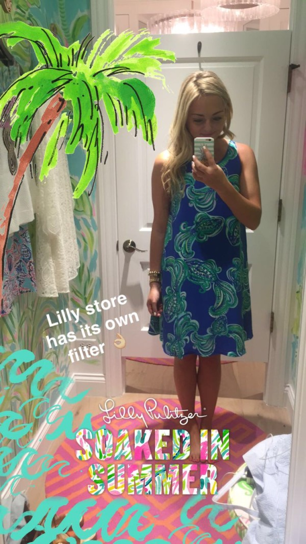 lilly pulitzer store snapchat filter