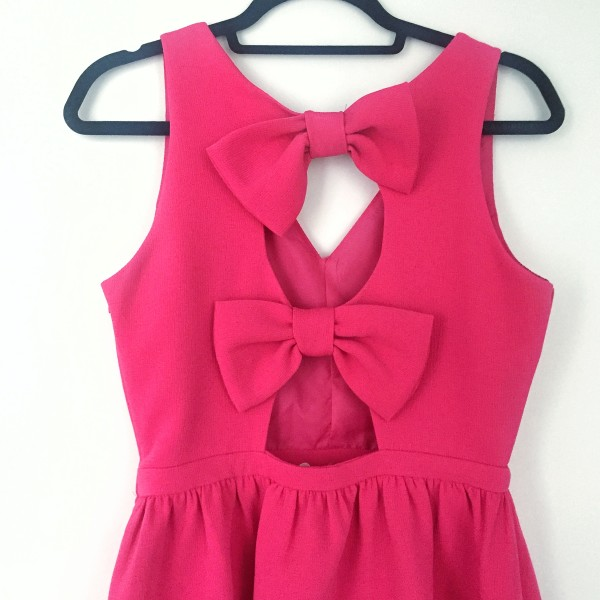 pink dress bows on back