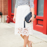 Striped Shirt + Lace Skirt