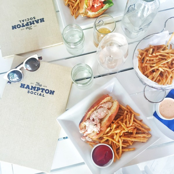 the hampton social chicago lobster rolls old bay french fries rose montauk