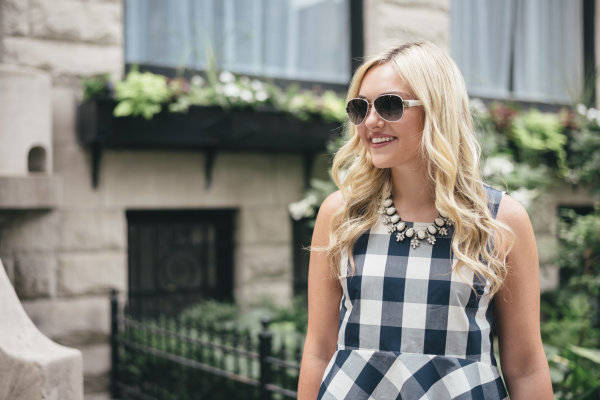 bauble-bar-necklace,-navy-gingham-top