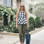Gingham + Olive Green