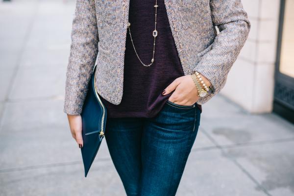 jcrew-metallic-tweed-jacket,-rag-&-bone-jeans,-dressed-up-denim-work-outfit