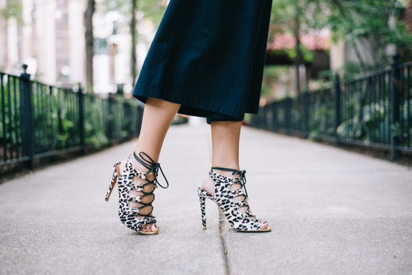 leopard-lace-up-heels,-culottes-pants