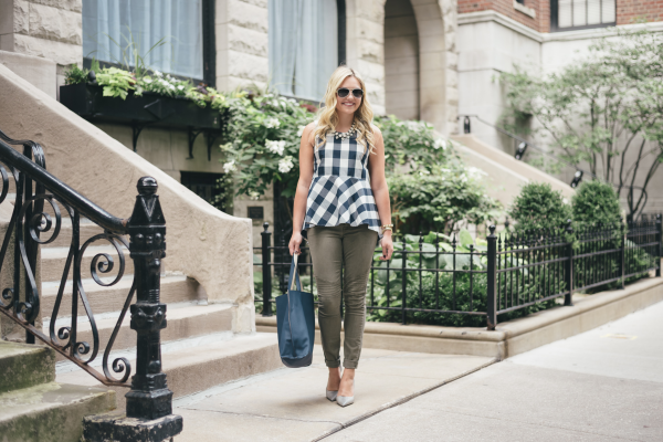 navy-gingham-top-fall-outfit