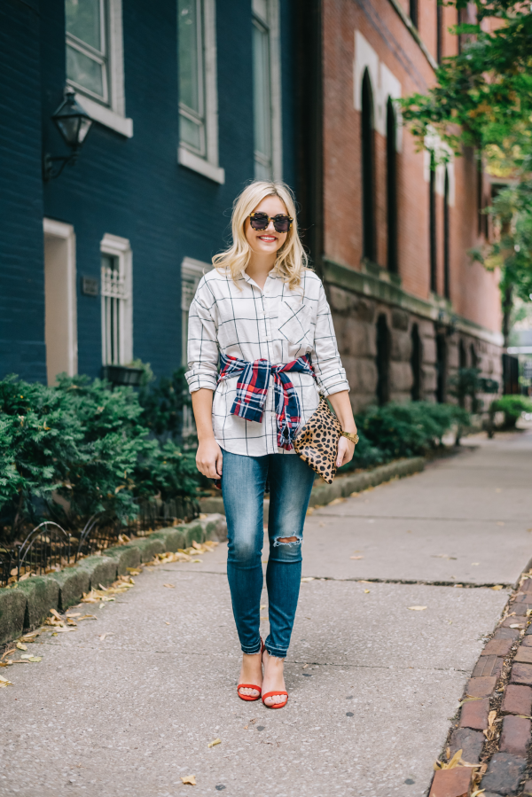 fall-outfit-plaid-shirt